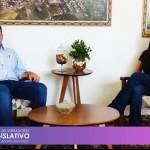 Visita da Presidente da Câmara Municipal de Vereadores Joceli de Fátima Rodrigues, ao Prefeito Municipal, Cristiano Gnoatto.