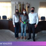 Visita do Gerente da Sicredi RS/SC/MG - Unidade Planalto/RS, Vanderlei Argenta, e da Gerente de Negócios Pessoa Física, Lucilene Basso.