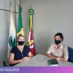 Visita da Assistente Social da Instituição de Acolhimento Construindo o Futuro de Planalto, Cristina Becker.