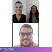 Reunião on-line com o Deputado Estadual Mateus Wesp e seu assessor João Pedro Albuquerque de Azevedo.