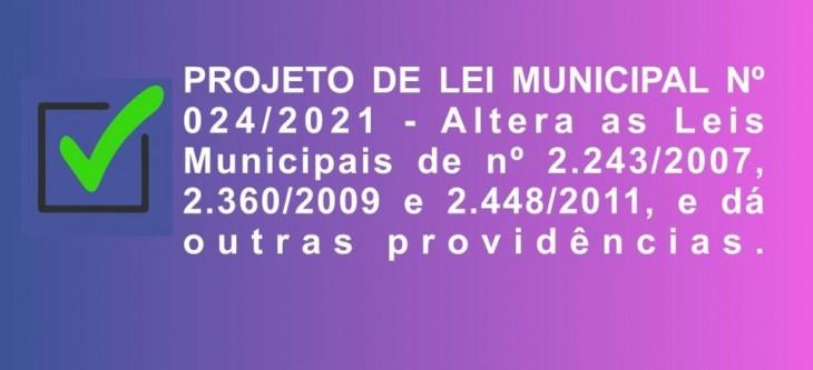 Projeto de Lei Municipal 024/2021