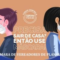 TODOS CONTRA O CORONAVÍRUS: Precisa sair de casa? Então use máscara!