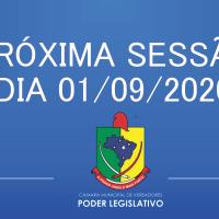 Próxima Sessão 01/09/2020